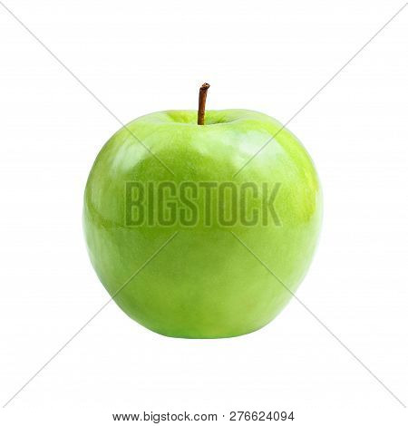 green apple granny smith on white isolated poster