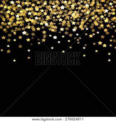 Background, Confetti, Gold, Golden, Holiday, Shiny, Pattern, Glitter, Party, Falling, Christmas, Cel