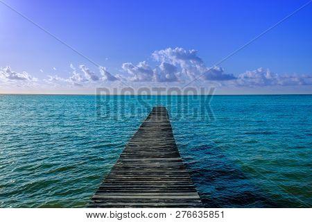 Pier On The Caribbean Sea, Little Cayman, Cayman Islands