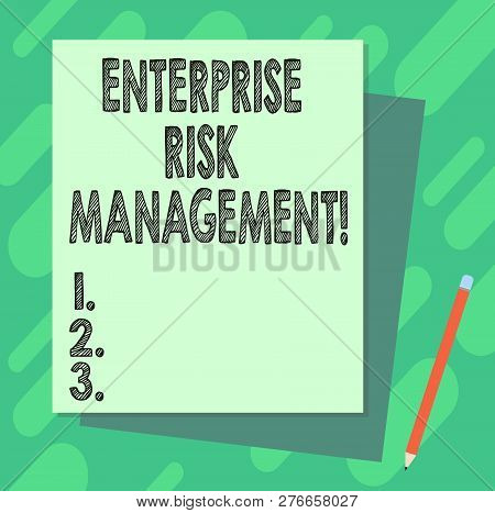 Word Writing Text Enterprise Risk Management. Business Concept For Analysisage Risks And Seize Busin
