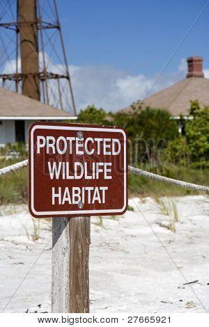 Protected Habitat Sign