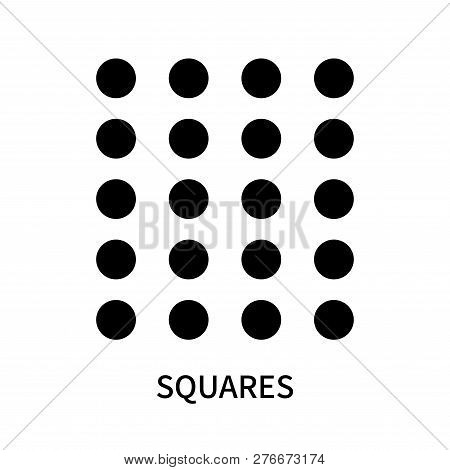 Squares Icon Isolated On White Background. Squares Icon Simple Sign. Squares Icon Trendy And Modern
