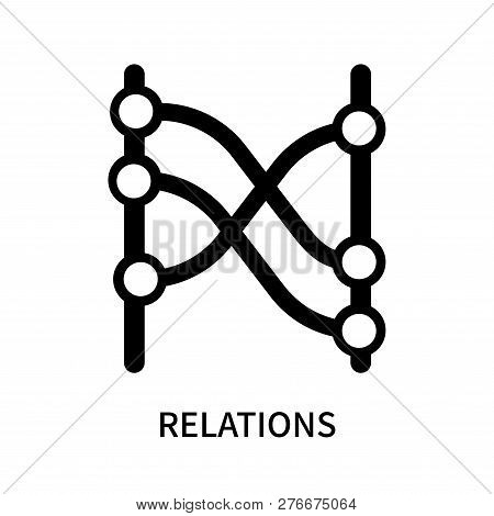 Relations Icon Isolated On White Background. Relations Icon Simple Sign. Relations Icon Trendy And M