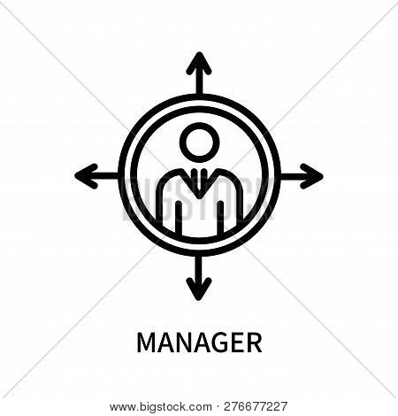 Manager Icon Isolated On White Background. Manager Icon Simple Sign. Manager Icon Trendy And Modern