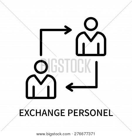 Exchange Personel Icon Isolated On White Background. Exchange Personel Icon Simple Sign. Exchange Pe