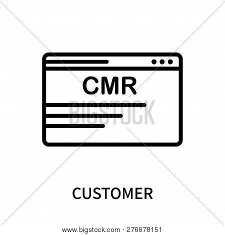 Customer Relationship Management Icon Isolated On White Background. Customer Relationship Management