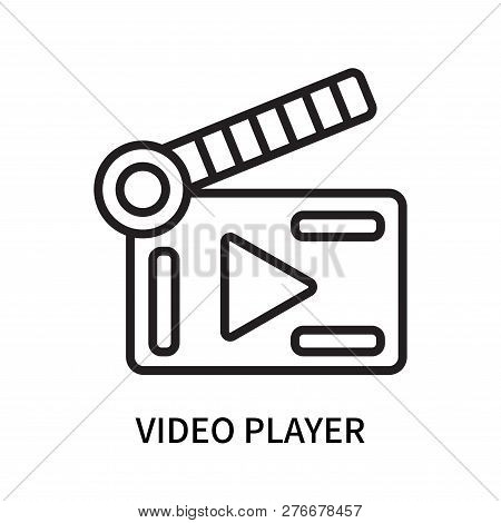 Video Player Icon Isolated On White Background. Video Player Icon Simple Sign. Video Player Icon Tre