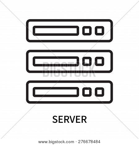 Server Icon Isolated Vector & Photo (Free Trial)   Bigstock