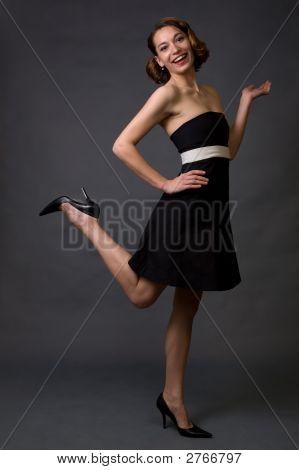 Happy Woman In Fashion