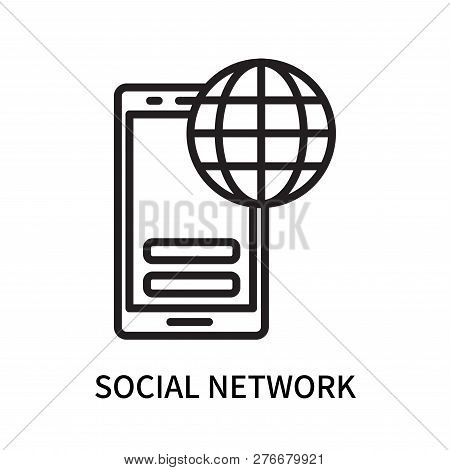 Social Network Icon Isolated On White Background. Social Network Icon Simple Sign. Social Network Ic