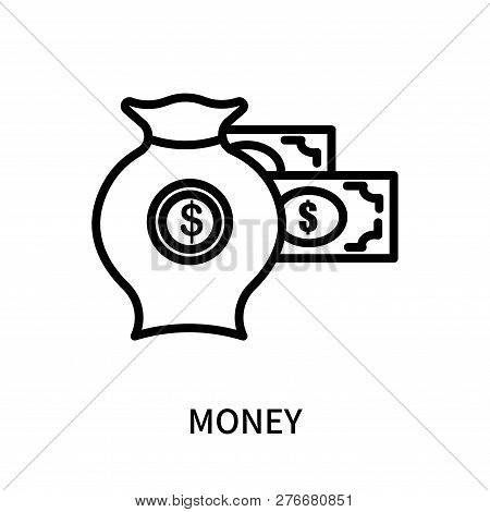 Money Icon Isolated On White Background. Money Icon Simple Sign. Money Icon Trendy And Modern Symbol