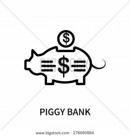 Piggy Bank Icon Isolated On White Background. Piggy Bank Icon Simple Sign. Piggy Bank Icon Trendy An
