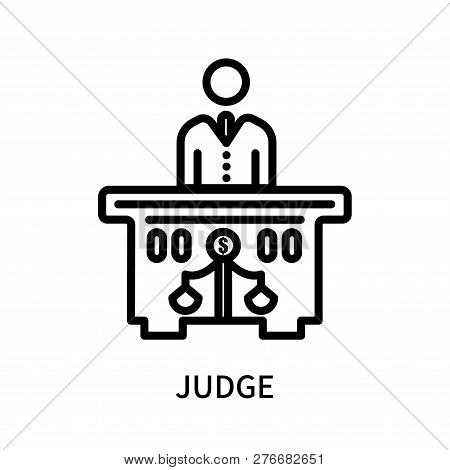 Judge Icon Isolated On White Background. Judge Icon Simple Sign. Judge Icon Trendy And Modern Symbol