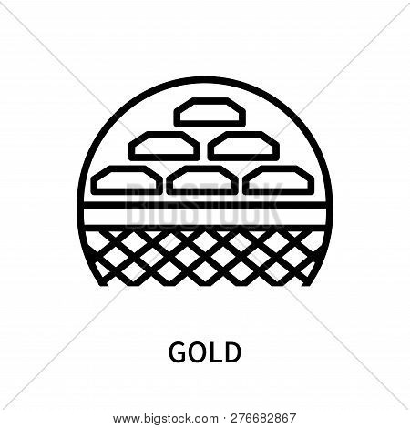 Gold Icon Isolated On White Background. Gold Icon Simple Sign. Gold Icon Trendy And Modern Symbol Fo