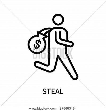 Steal Icon Isolated On White Background. Steal Icon Simple Sign. Steal Icon Trendy And Modern Symbol
