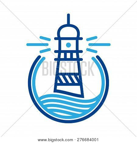 Lighthouse Icon In Trendy Design Style. Lighthouse Icon Isolated On White Background. Lighthouse Vec