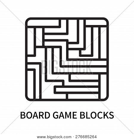 Board Game Blocks Icon Isolated On White Background. Board Game Blocks Icon Simple Sign. Board Game