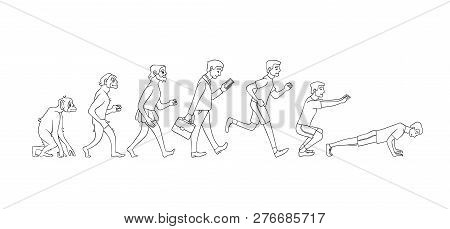 Vector People Evolution From Monkey To Business