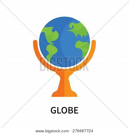 Globe Icon Isolated On White Background. Globe Icon Simple Sign. Globe Icon Trendy And Modern Symbol