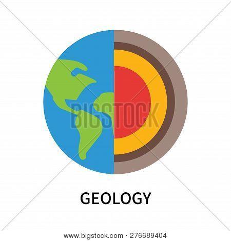 Geology Icon Isolated On White Background. Geology Icon Simple Sign. Geology Icon Trendy And Modern