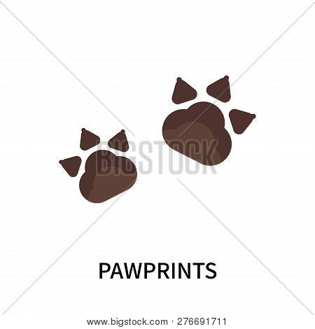 Pawprints Icon Isolated On White Background. Pawprints Icon Simple Sign. Pawprints Icon Trendy And M