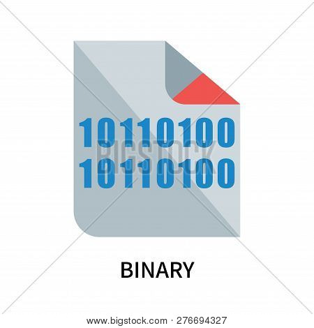 Binary Icon Isolated On White Background. Binary Icon Simple Sign. Binary Icon Trendy And Modern Sym