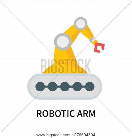 Robotic Arm Icon Isolated On White Background. Robotic Arm Icon Simple Sign. Robotic Arm Icon Trendy
