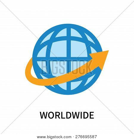 Worldwide Icon Isolated On White Background. Worldwide Icon Simple Sign. Worldwide Icon Trendy And M