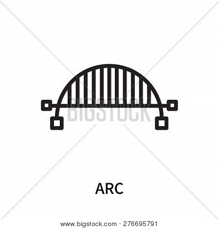 Arc Icon Isolated On White Background. Arc Icon Simple Sign. Arc Icon Trendy And Modern Symbol For G