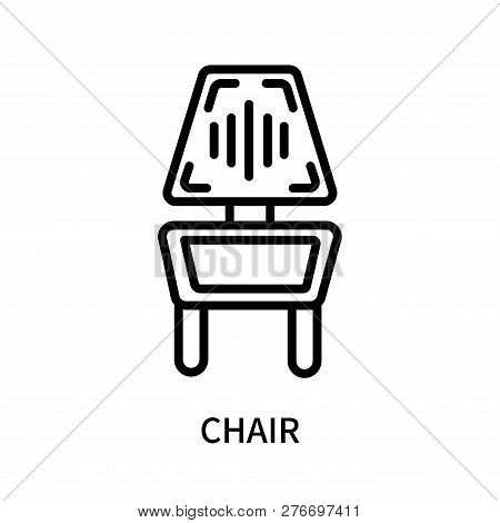Chair Icon Isolated On White Background. Chair Icon Simple Sign. Chair Icon Trendy And Modern Symbol