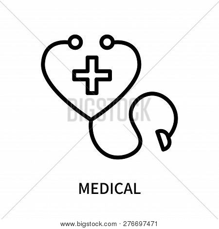 Medical Icon Isolated On White Background. Medical Icon Simple Sign. Medical Icon Trendy And Modern