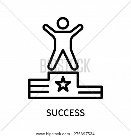 Success Icon Isolated On White Background. Success Icon Simple Sign. Success Icon Trendy And Modern
