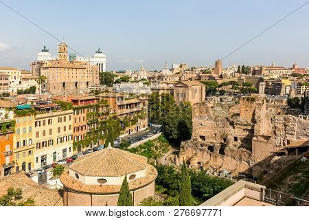 Rome, Italy - June 19, 2018: The Eternal City Of Rome. The Historic Architecture Of The City Of Rome