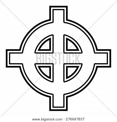 Celtic Cross White Superiority Icon Black Color Vector Illustration Flat Style Simple Image 63