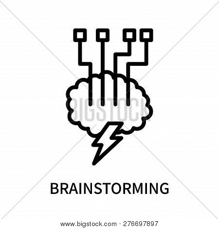 Brainstorming Icon Isolated On White Background. Brainstorming Icon Simple Sign. Brainstorming Icon