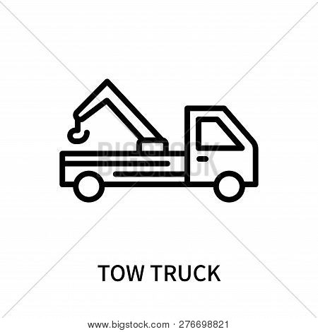 Tow Truck Icon Isolated On White Background. Tow Truck Icon Simple Sign. Tow Truck Icon Trendy And M