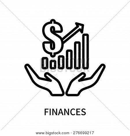 Finances Icon Isolated On White Background. Finances Icon Simple Sign. Finances Icon Trendy And Mode