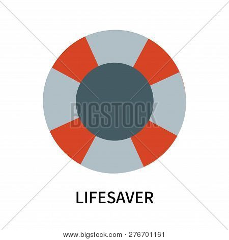 Lifesaver Icon Isolated On White Background. Lifesaver Icon Simple Sign. Lifesaver Icon Trendy And M