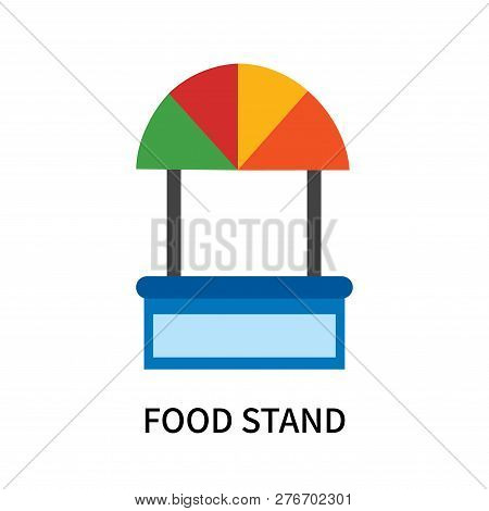 Food Stand Icon Isolated On White Background. Food Stand Icon Simple Sign. Food Stand Icon Trendy An