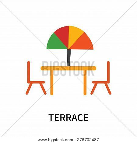 Terrace Icon Isolated On White Background. Terrace Icon Simple Sign. Terrace Icon Trendy And Modern