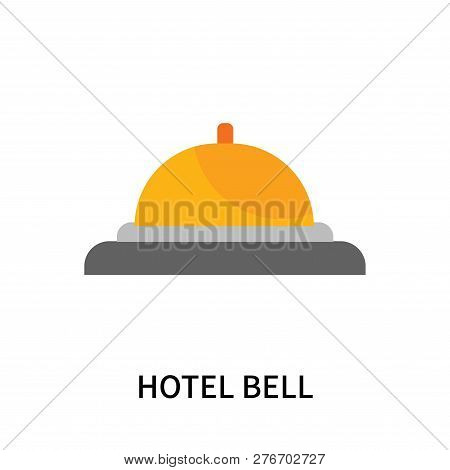 Hotel Bell Icon Isolated On White Background. Hotel Bell Icon Simple Sign. Hotel Bell Icon Trendy An