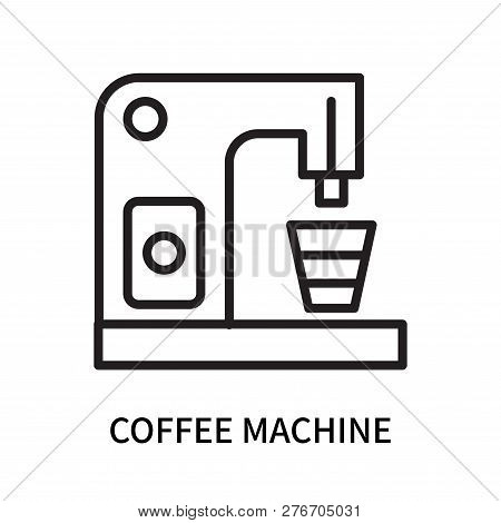 Coffee Machine Icon Isolated On White Background. Coffee Machine Icon Simple Sign. Coffee Machine Ic
