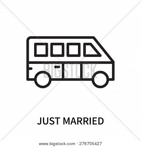 Just Married Icon Isolated On White Background. Just Married Icon Simple Sign. Just Married Icon Tre