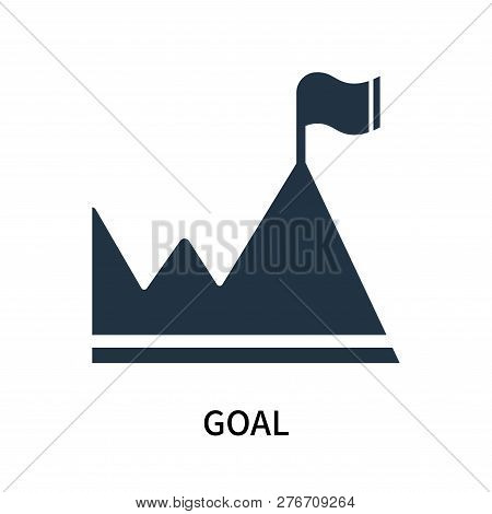 Goal Icon Isolated On White Background. Goal Icon Simple Sign. Goal Icon Trendy And Modern Symbol Fo