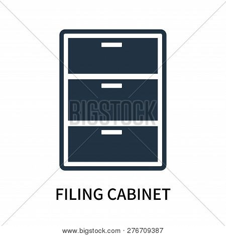 Filing Cabinet Icon Isolated On White Background. Filing Cabinet Icon Simple Sign. Filing Cabinet Ic