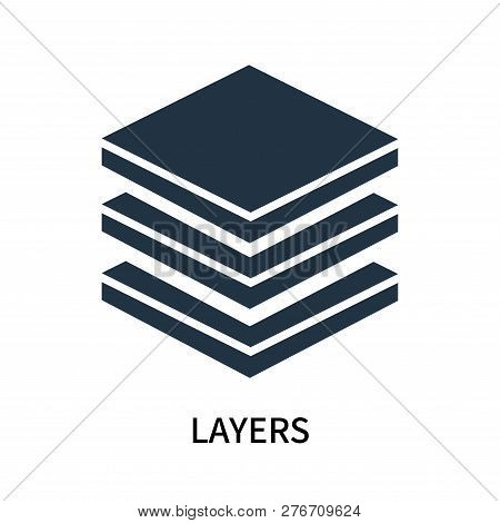 Layers Icon Isolated On White Background. Layers Icon Simple Sign. Layers Icon Trendy And Modern Sym