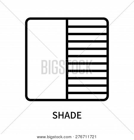 Shade Icon Isolated On White Background. Shade Icon Simple Sign. Shade Icon Trendy And Modern Symbol
