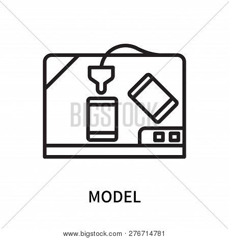 Model Icon Isolated On White Background. Model Icon Simple Sign. Model Icon Trendy And Modern Symbol