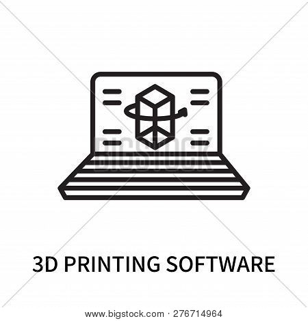 3d Printing Software Icon Isolated On White Background. 3d Printing Software Icon Simple Sign. 3d Pr