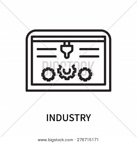 Industry Icon Isolated On White Background. Industry Icon Simple Sign. Industry Icon Trendy And Mode